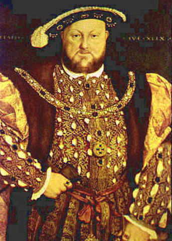 Henry VIII of England excommunictaed