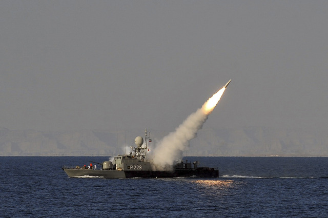 Iran rattles saber in Straight of Hormuz.