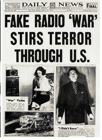 War of the Worlds Radio Broadcast