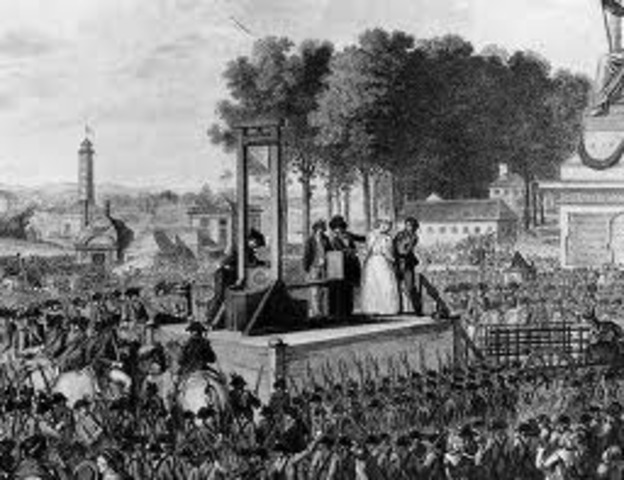 Louis XVI and Marie Antoinette executed