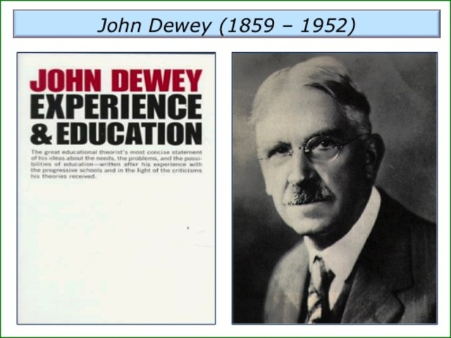 john dewey experience and education This short essay reviews john dewey's philosophy in experience and education, and how it may or may not fit into today's postmodern culture.