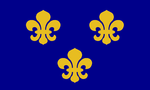 Flag of medieval france  landscape