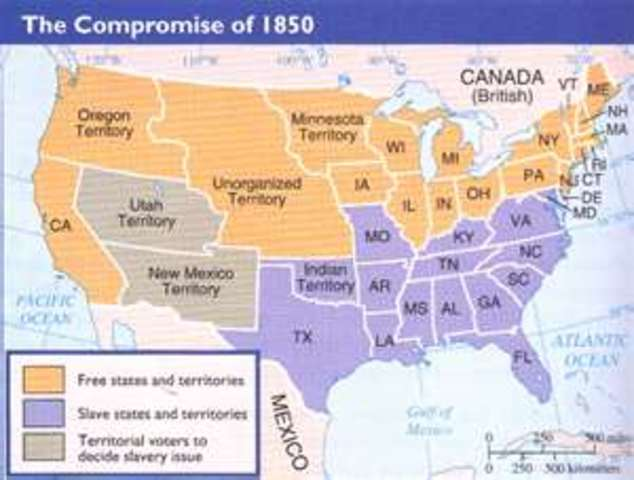 Events Leading Up To The American Civil War Timeline