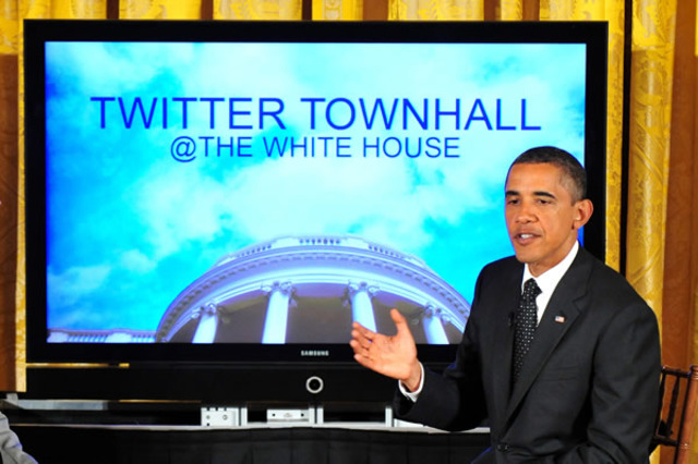 "Obama hosts first ""Twitter Town Hall"""