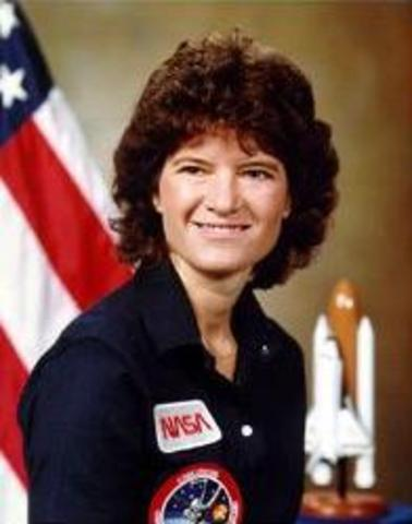 Sally Ride completes her NASA training.