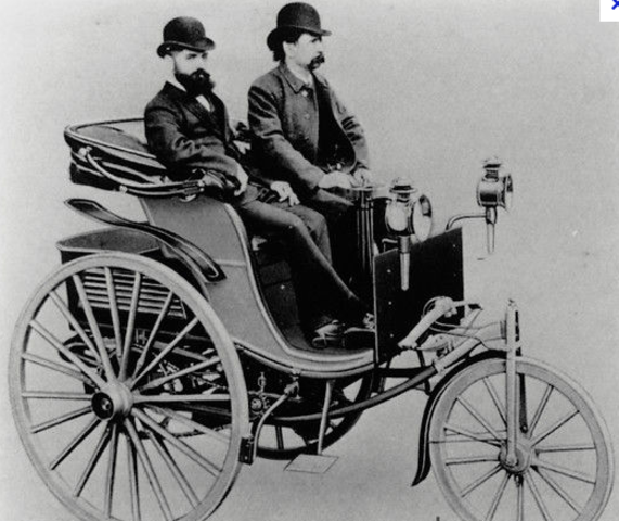 1st gasoline car made by Carl Friedrich Benz