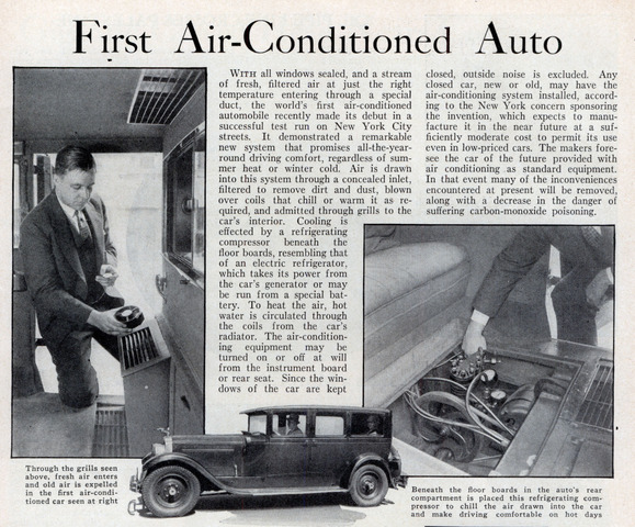 First Air Conditioned Car