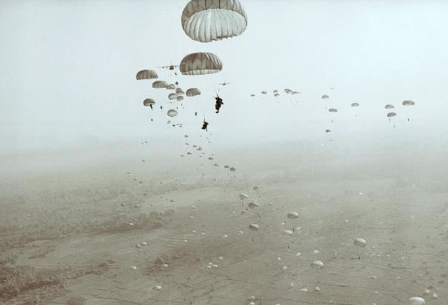 Parachuting in Saigon