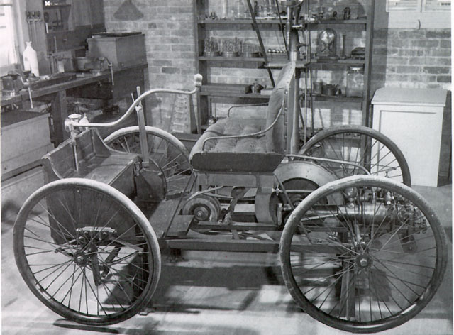 The first self-propelled car was built