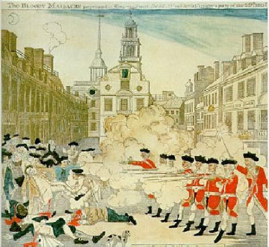The death of Crispus Attucks