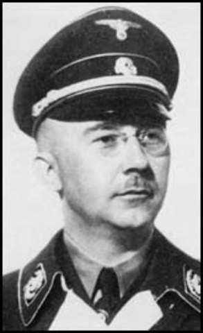 Henrich Himmler, chief of SS, commands the concentration camps