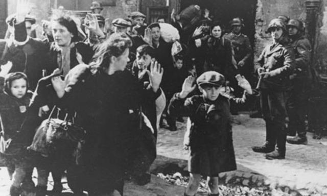 SS troops send Jews in Warsaw