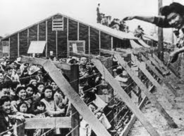 Japanese Americans placed in work camps