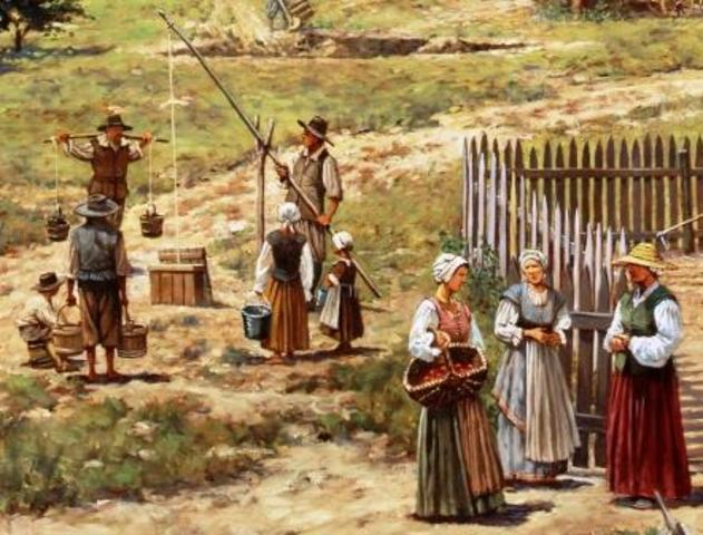 The First English Women Arrive in Jamestown