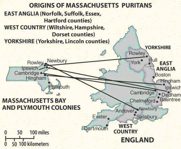 Puritan migration to New England