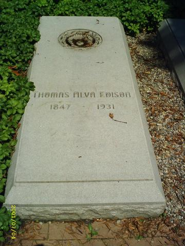 Thomas Edisons death