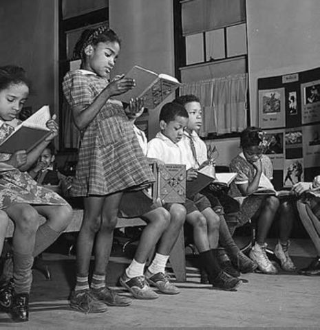 Racial segregation ruled unconstitional in public schools