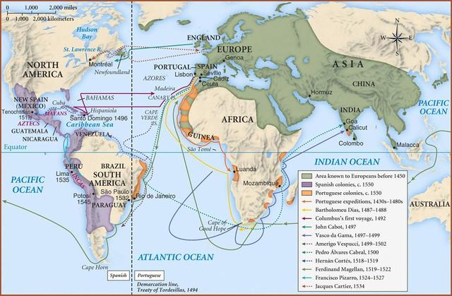 atlantic trade 1492 1750 Between 1492 and 1750, the atlantic world underwent many changes due to the  interactions with europe and africa the establishment of the triangular trade.