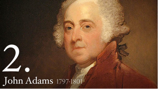 Second President : John Adams 1797-1801