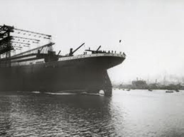 Launch of the Titanic