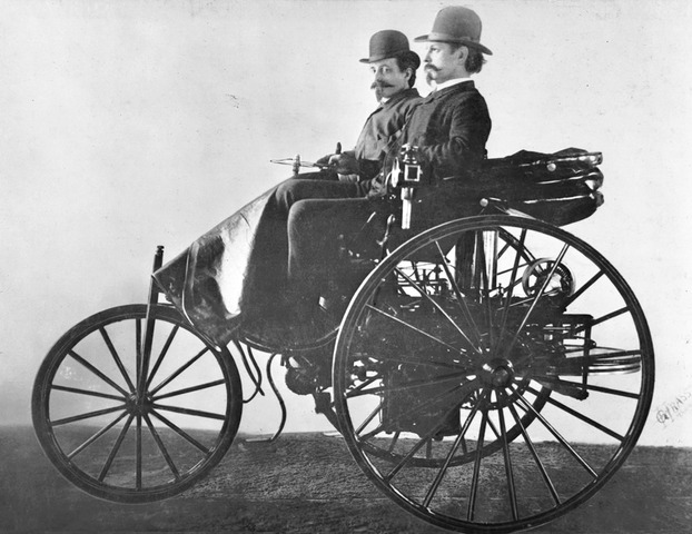 The first motor car was invented