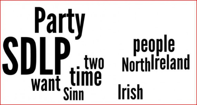 SDLP and Sinn Fein Talks