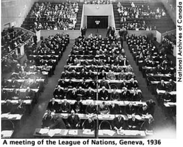 timeline league of nations and world A league of nations timeline  the impact of the world depression on the work of the league after 1929 the failures of the league in manchuria and abyssinia.