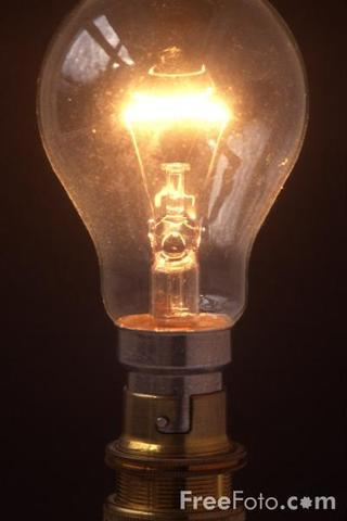 Edison invents electric light