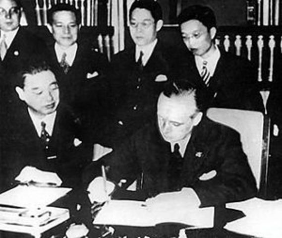 German-Japanese Anti-Comintern Pact against the Soviet Union