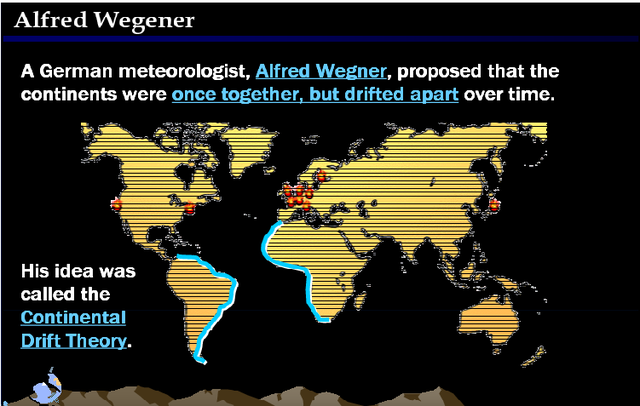 Alfred Wegener proposed the theory of the continental drift