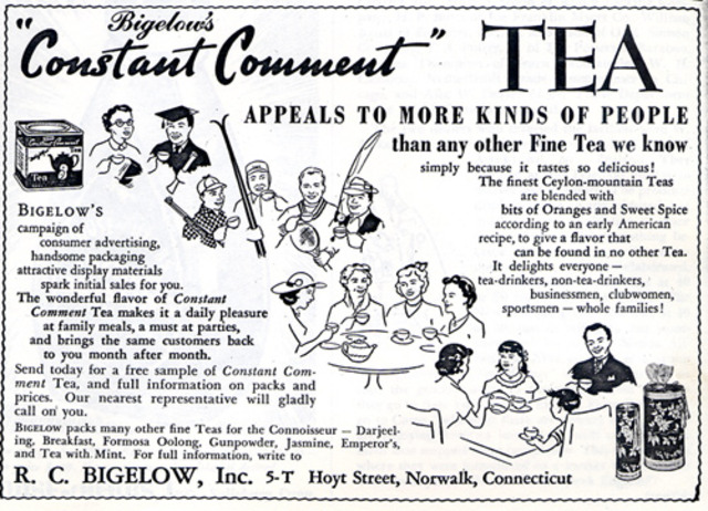 Advertisement for Bigelow's Specialty Tea