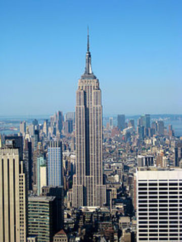 Timeline of our history timetoast timelines for 102nd floor empire state building