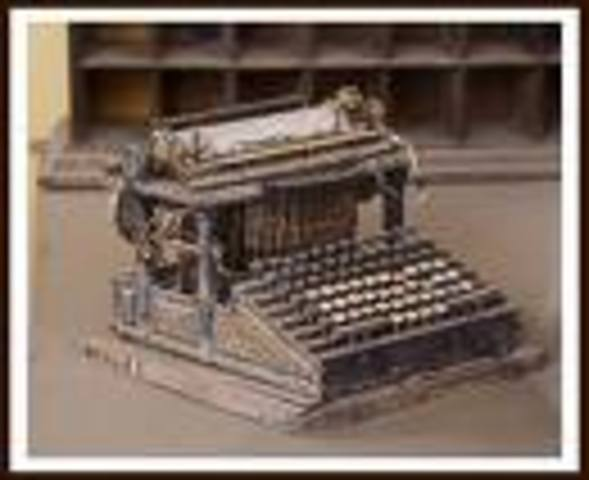 Invention of the Typewriter.