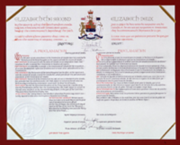 The British North America Act was passed (Eastern Canada)