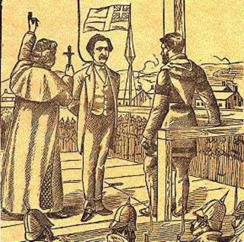 Louis Riel hanged (Prairies)