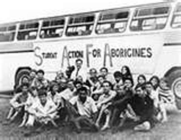 charles perkins and the freedom rides The freedom riders held up posters outside the club and perkins addressed the crowd to convince the committee members to change their policies the bus was then followed by a line of cars and trucks leading it out of the town, getting forced off the road by a truck.