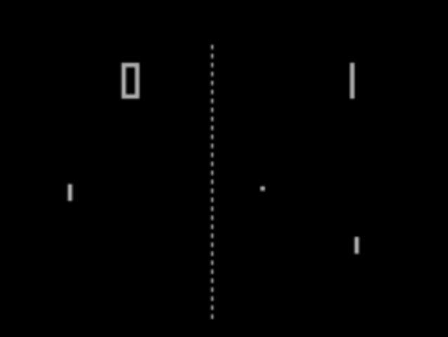 Pong as arcade game.