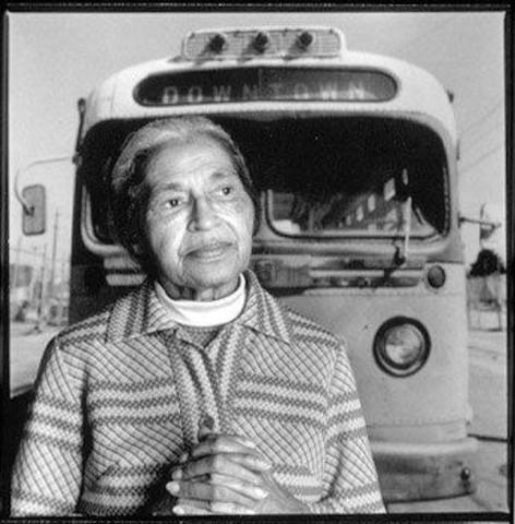 Rosa Parks begins the Montgomery Bus Boycott on the year of 1955 (Part 1)
