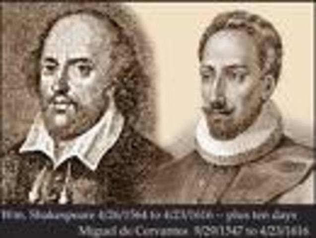 Shakespeare and Cervantes die
