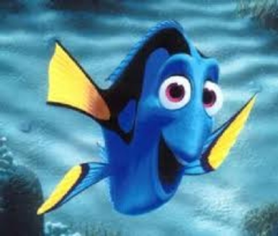 Nemo's dad chases after the boat. He meets Dory.