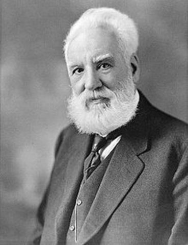 In 1875 Alexander graham bell created the first telephone