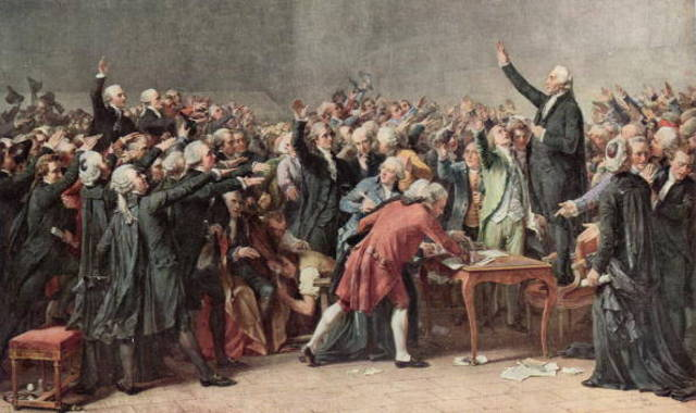 Third Estate forms the National Assembly and take Tennis Court Oath