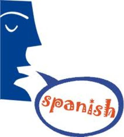 Is entered the use of Spanish in first grade for some courses.