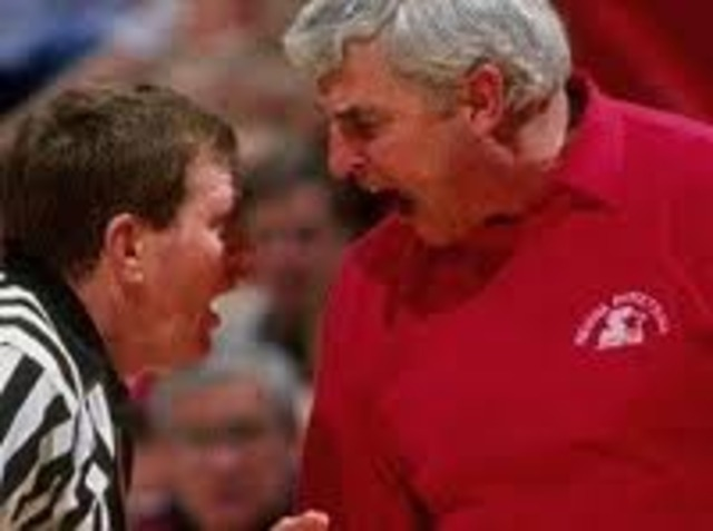 Interpersonal Figurehead_-- Bobby knight is a hothead