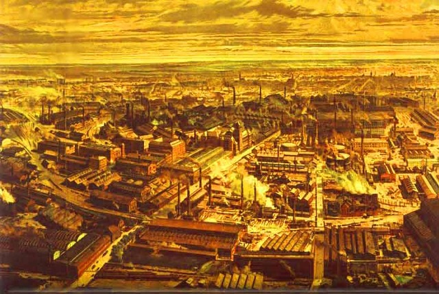 The start of industrial revolution in America