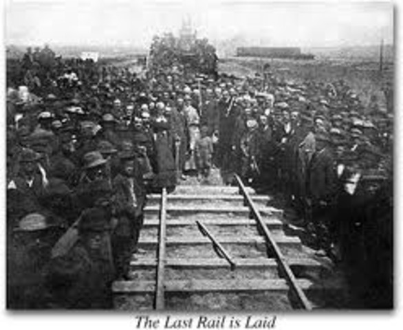 transcontinental railroad timeline essay The northern pacific railroad played a pivotal role in the development of railroads in seattle and in the puget sound region  decorations welcoming henry villard upon completion of the.