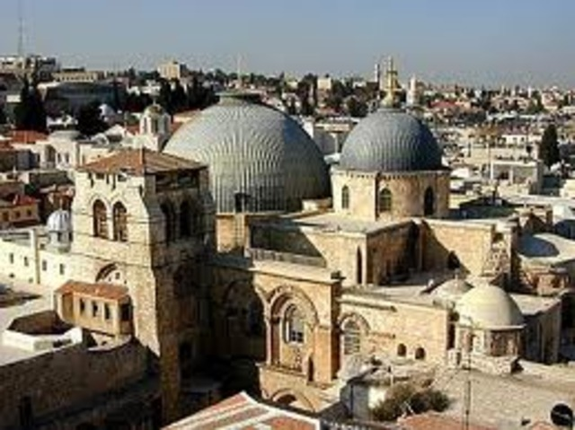 The Holy Sepulcher Church was built