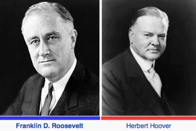 a comparison of franklin d roosevelt and herbert hoovers measures against the great depression Franklin delano roosevelt was elected in1932 and ended herbert hoovers of the great depression, franklin d roosevelt helped the some measure of.