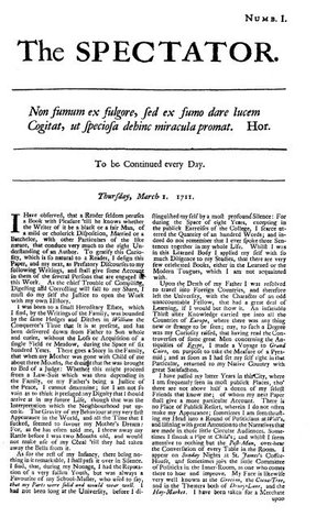 The Spectator Newspaper Published