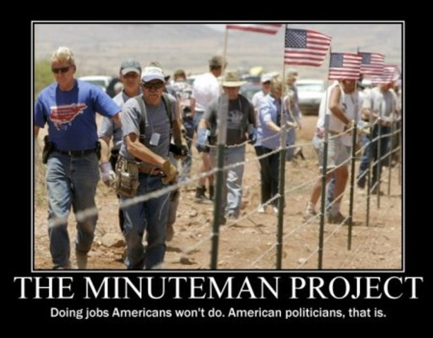 minuteman project The minuteman project, which had civilians guard the border, has all but disappeared but it stoked a movement that continues to influence the immigration reform debate.